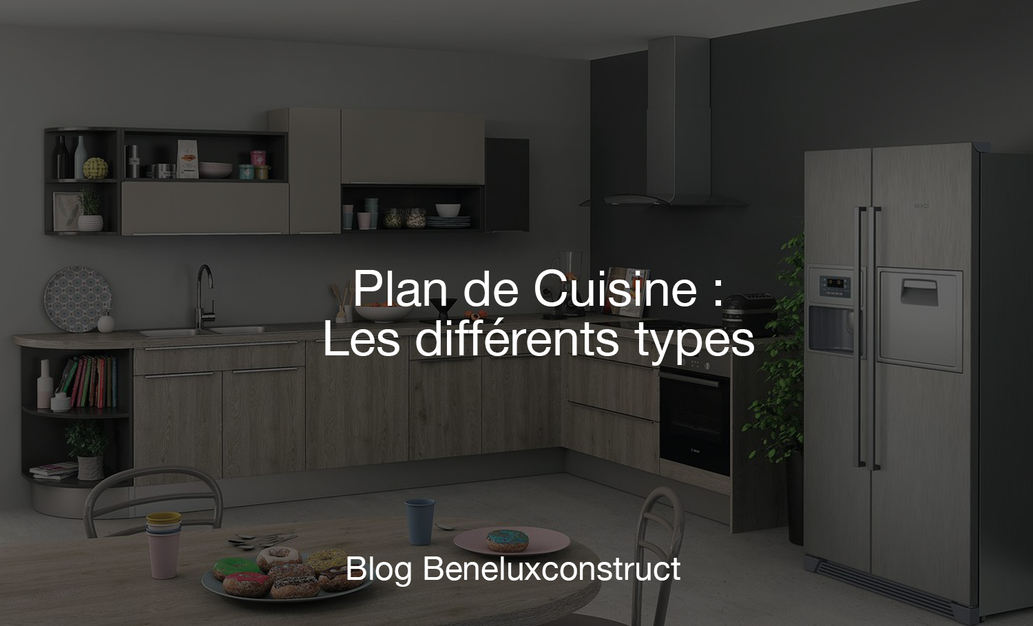 plan de cuisine les diff rents types. Black Bedroom Furniture Sets. Home Design Ideas